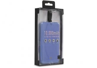 S-link IP-G19 10000mAh 1 Usb Port 2 in 1 Kablo Powerbank Mavi Taşınabilir Pil Şarj Cihazı