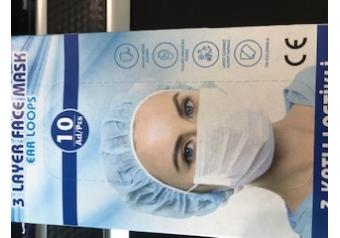 Rvz 10lu Lastik Halkalı 3 Katlı Maske