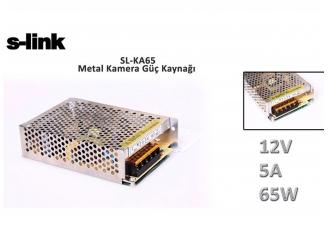 S-link SL-KA65 12V 5A 65W Metal Kamera Güç Kaynağı
