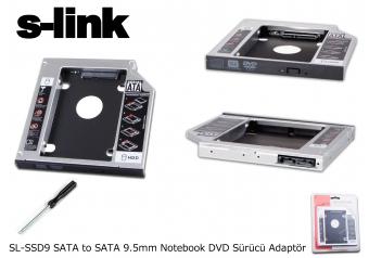 "S-link SL-SSD9 Sata 2.5"" 9.5mm Harddsik (hdd) Kutusu"