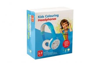 Kids H-31115 3.5mm AUX Mavi Çocuk Kulaklığı ( Pastel Boya + Boyama Etiketi)