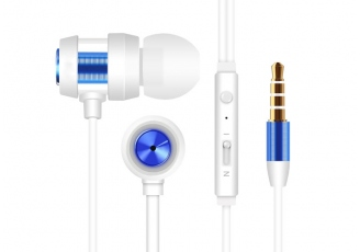 Snopy SN-J01 Beyaz Mavi Kulak İçi Tek Jaklı Kulaklık