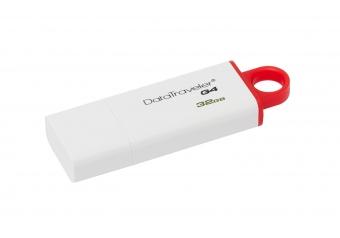 Kingston DTIG4 32 Gb USB 3.0 Beyaz-Kırmızı Plastik Kasa Flash Bellek