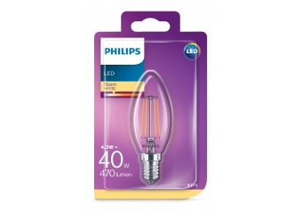 Philips Led Classıc 40w b35 e14 ww cl nd (587355)