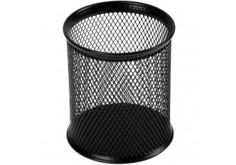 Metal Masaüstü Siyah Kalemlik