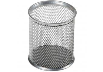 Metal Masaüstü Gümüş Kalemlik