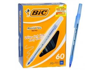 Bic Round Stick Mavi Tükenmez Kalem 60'lı Paket
