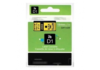 Dymo 45808 Sarı Üzerine Siyah Muadil Etiket