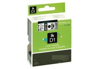 Dymo 53710 Şeffaf Üzerine Siyah Muadil Etiket
