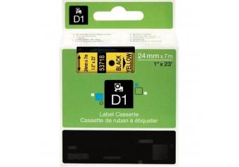 Dymo 53718 Sarı Üzerine Siyah Muadil Etiket
