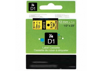 Dymo 45018 Sarı Üzerine Siyah Muadil Etiket