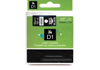 Dymo 45021 Siyah Üzerine Beyaz Muadil Etiket