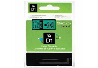 Dymo 45809 Yeşil Üzerine Siyah Muadil Etiket