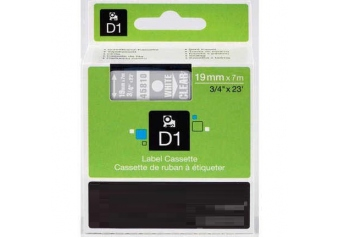 Dymo 45810 Şeffaf Üzerine Siyah Muadil Etiket
