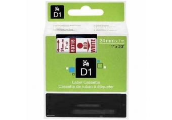 Dymo 53715 Beyaz Üzerine Kırmızı Muadil Etiket