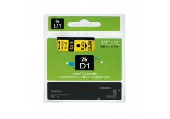 Dymo 43618 Sarı Üzerine Siyah Muadil Etiket