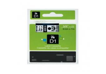 Dymo 40910 Şeffaf Üzerine Siyah Muadil Etiket