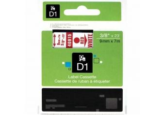 Dymo 40915 Beyaz Üzerine Kırmızı Muadil Etiket