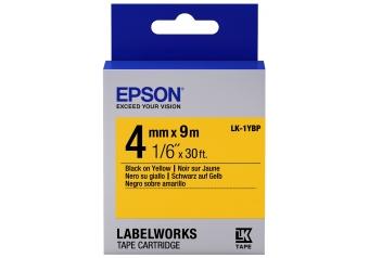Epson LK-1YBP Sarı Üzerine Siyah Orjinal Etiket