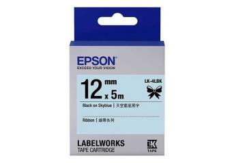 Epson LK-4LBK Gök Mavisi Üzerine Siyah Orjinal Etiket