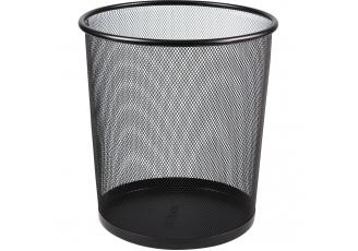 Globox Metal Çöp Kovası Delikli Siyah