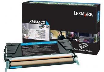 Lexmark X746-X746A1CG Mavi Orjinal Toner