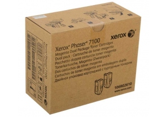 Xerox Phaser 7100 106R02610 Kırmızı Orjinal Toner 2'Li Paket