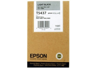 Epson T5437 C13T543700 Orjinal Açık Siyah Kartuş