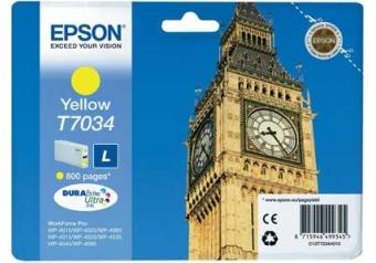 Epson T7034 C13T70344010 Orjinal Sarı Kartuş